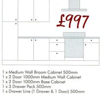 £997 SAMPLE MANAGER SPECIAL BRECON CREAM or WHITE