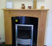 48 INCH AMBLE OAK SURROUND WITH GRANITE SET NOW £515 (fire is optional and not included in price) EXDISPLAY
