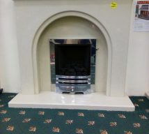48 inch FONTELO WAS NOW £595 SOLID MARBLE SURROUND, PANEL & HEARTH (fire is optional and not included in price) EXDISPLAY