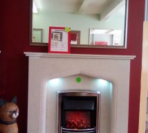 48 inch VIENNA NOW £500 MARBLE SURROUND, PANEL & HEARTH BY ELGIN & HALL EXDISPLAY (fire is optional and not included in price)