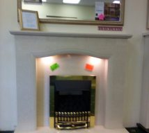50 inch SOPHIA MARBLE SURROUND, PANEL & HEARTH NOW £545 FROM ELGIN & HALL (fire is optional and not included in price) EXDISPLAY