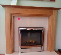 52 inch ARIZONA NOW £435 GOLDEN OAK SURROUND WITH MARBLE PANEL & HEARTH (fire is optional and not included in price)