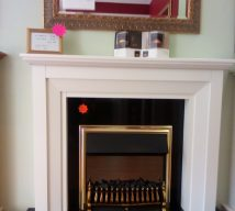 53 inch BARCELONA NOW £495 MARBLE SURROUND WITH BLACK GRANITE SET (fire is optional and not included in price) EXDISPLAY