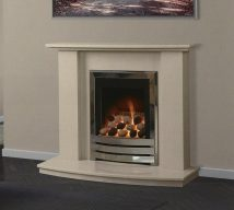 AUSTIN in BEIGE MARFIL solid marble £395. Price includes mantle, surround, back panel, hearth (available in ALL group A colours). Available in group B colours in solid marble for £418. Also made in group C colours.