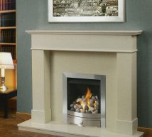 CHEPSTOW in BIANCA BEIGE solid marble £792. Price includes mantle, surround, back panel hearth (available in ALL group B colours). Available in group A colours in solid marble for £762. Also made in group C colours.