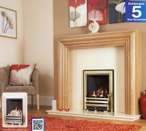 Delamere gas fire rotary control £330,slide control £375