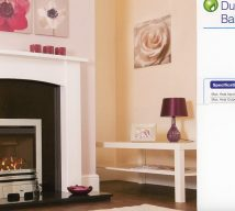 Durlston gas fire, rotary control £565, touch control £645