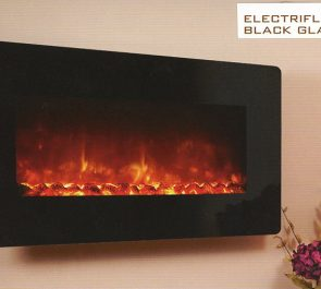 ELECTRIFLAME XD BLACK GLASS £333 incl VAT