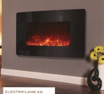 ELECTRIFLAME XD CURVED BLACK GLASS £333 incl VAT