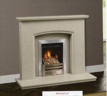ELLENHALL in NACARADO solid marble £756. Price includes mantle, surround, back panel, hearth (available in ALL group B colours). Available in group A colours in solid marble for £726. Also made in group C colours.
