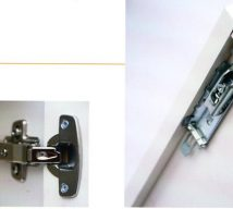 Soft close system and concealed wall hanger