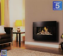 Langley Slimline gas fire, remote control £710