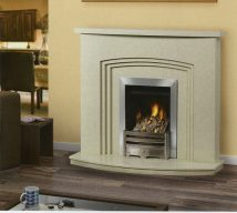 MONTREAL in VERONA BEIGE solid marble £695. Price includes mantle, surround, back panel, hearth (available in ALL group C colours). Available in group A colours in solid marble for £608. Also made in group B colours.