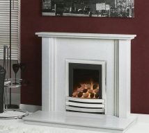 NEVADA in CARRARA WHITE solid marble £396. Price includes mantle, surround, back panel, hearth (available in ALL group A colours). Available in group B colours in solid marble for £418. Also made in group C colours.
