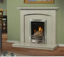 REBECCA in NACARADO solid marble £534. PrIce includes mantle, surround, back panel, hearth (available in ALL group B colours). Available in group A colours in solid marble for £418. Also made in group C colours.