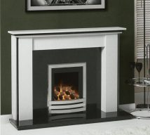 STANSTEAD in ARCTIC WHITE solid marble £840. Price includes mantle, back panel, hearth (available in ALL group C colours). Available in group A colours in solid marble for £730. Also made in group B colours.