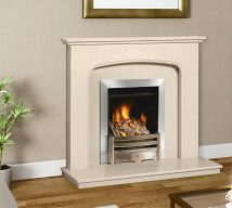 WINCHESTER in BEIGE MARFIL solid marble £564 price includes mantle, surround, back panel, hearth (available in ALL group A colours). Available in group B colours in solid marble for £600. Also made in group C colours.
