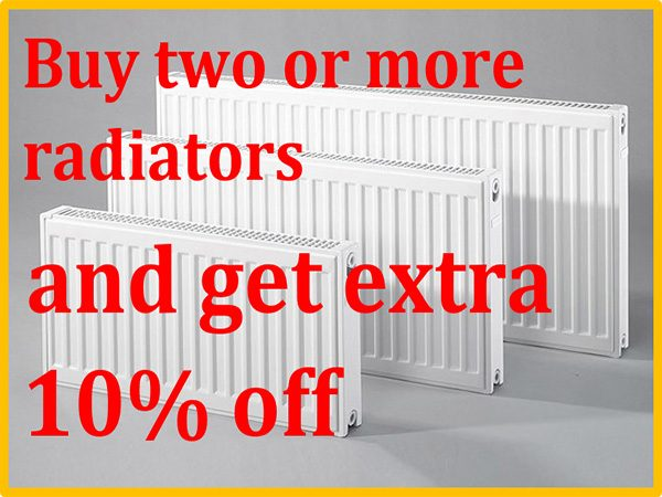 10% off Radiators