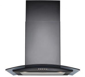 Curved Black Glass Hood