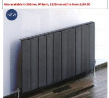 FORTUNA Horizontal Aluminium Radiator 600mm x 375mm £137.00