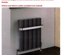 MELBURN designer radiator in MATT ANTHRACITE 600mm(H) x 375mm(W) £125.00 (incl. VAT)