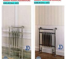 Traditional radiators FIORINO £263.00 (incl VAT) ASTORIA £298.00 (incl. VAT)